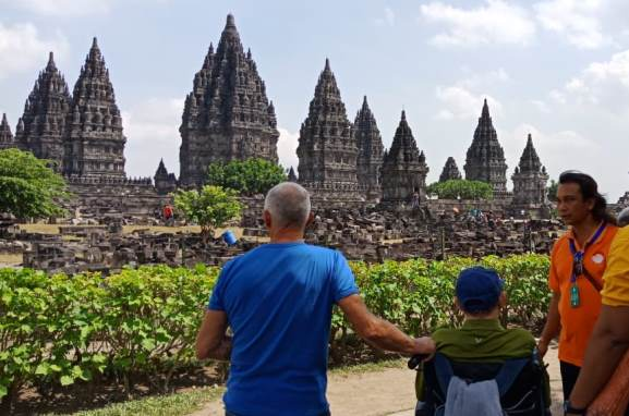 Prambanan. Travel with a wheelchair in Yogyakarta