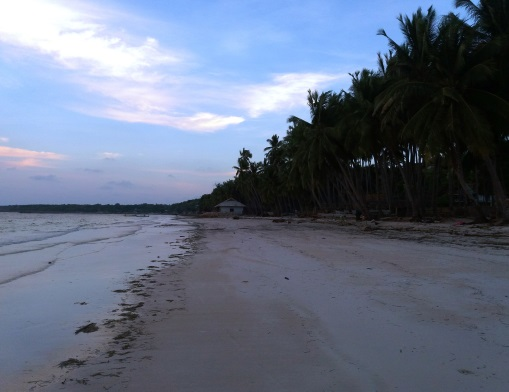 Sunset at a shore in Sulawesi