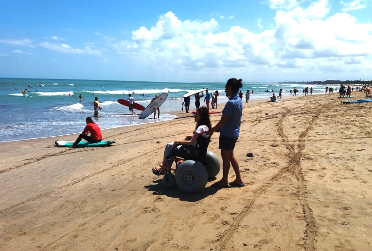 beach wheelchair in Kuta