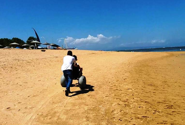 beach wheelchair in sanur