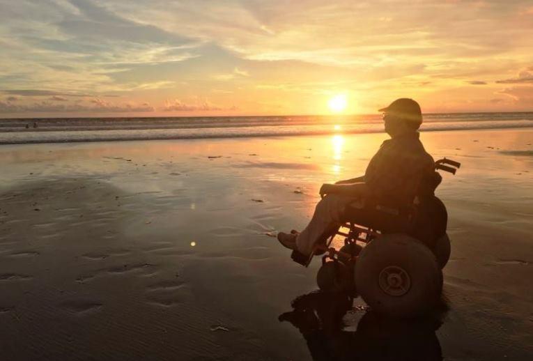 beach wheelchair in Seminyak