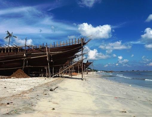 Schiffsbau in Tanah Beru