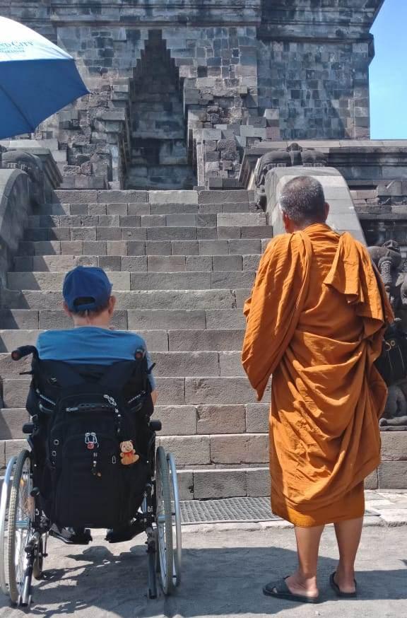 Mendut with Monk