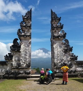 Wheelchair travel in Bali. Lempuyang, by AI