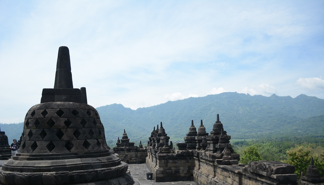 Borobudur. Travel with a wheelchair in Yogyakarta