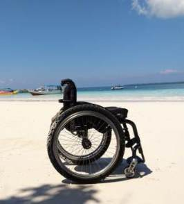 Bira beach. Travel with a wheelchair in Sulawesi