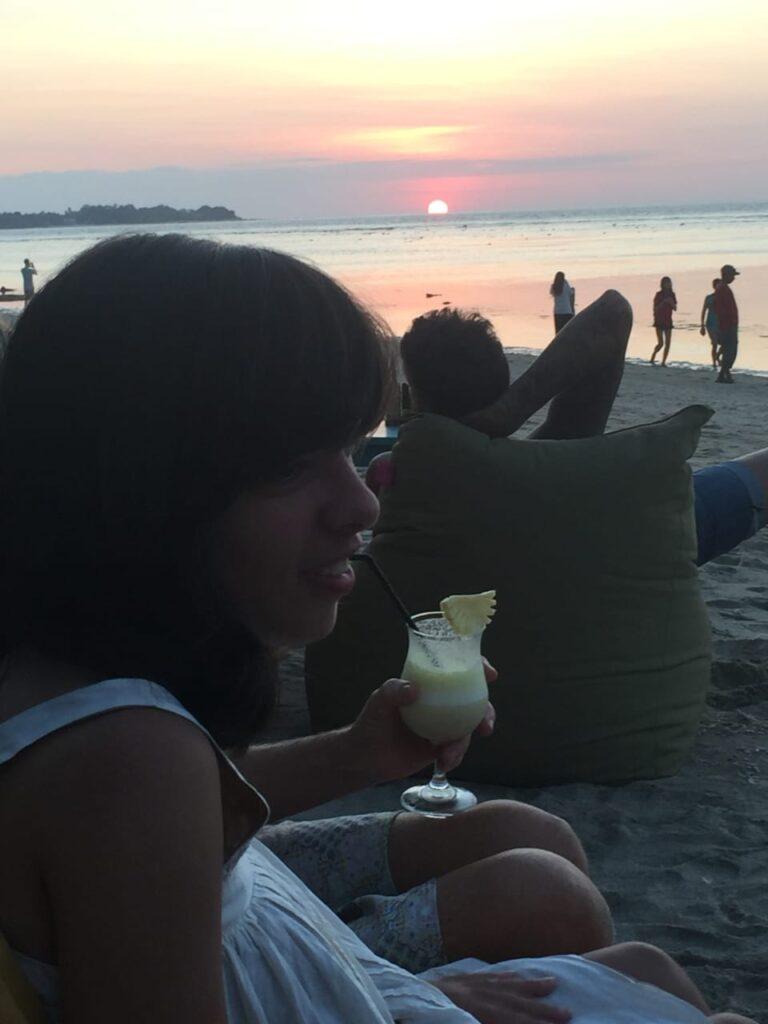 Morgan at the beach